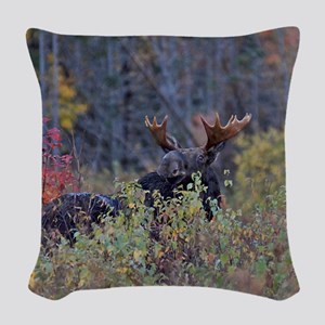 Checking the wind Woven Throw Pillow
