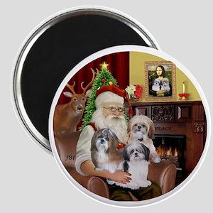 (R) - Santas Shih Tzus (THREE) Magnet