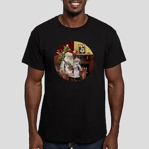 (R) - Santas Shih Tzus Men's Fitted T-Shirt (dark)