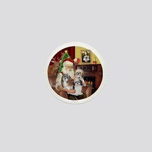 (R) - Santas Shih Tzus (THREE) Mini Button