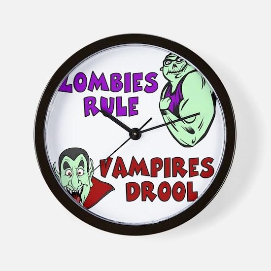 Zombies Rule Wall Clock
