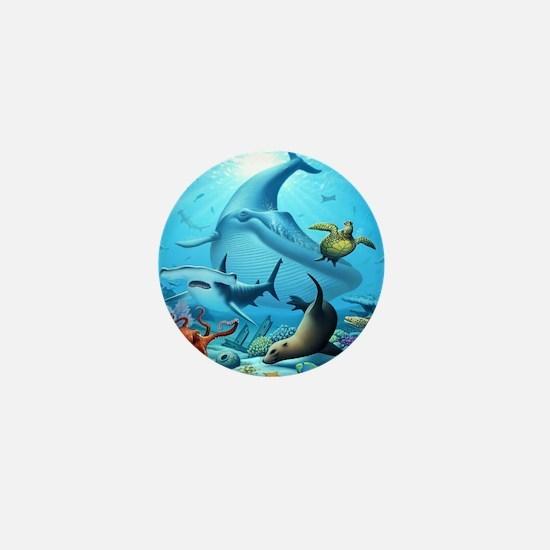 Ocean Life Mini Button