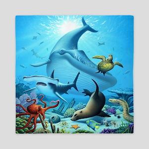 Ocean Life Queen Duvet