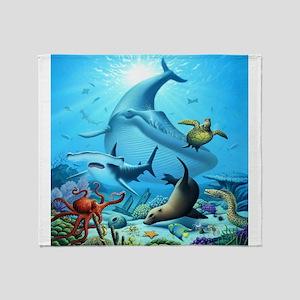 Ocean Life Throw Blanket