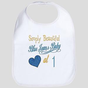 Blue Jeans Baby at 1 Bib