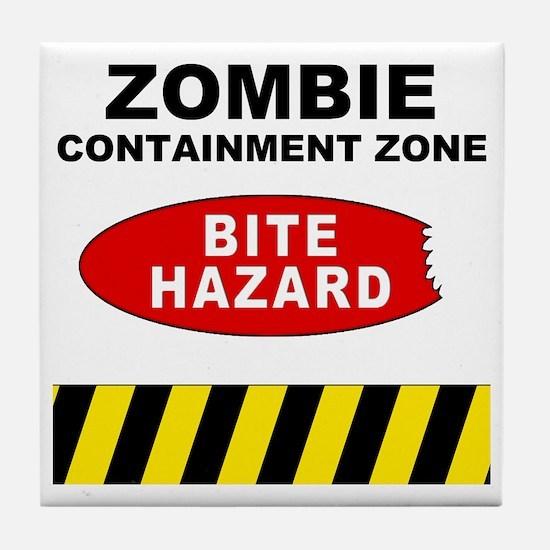 Bite Hazard Tile Coaster