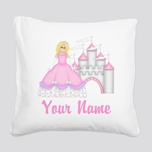 Princess Personalized Square Canvas Pillow