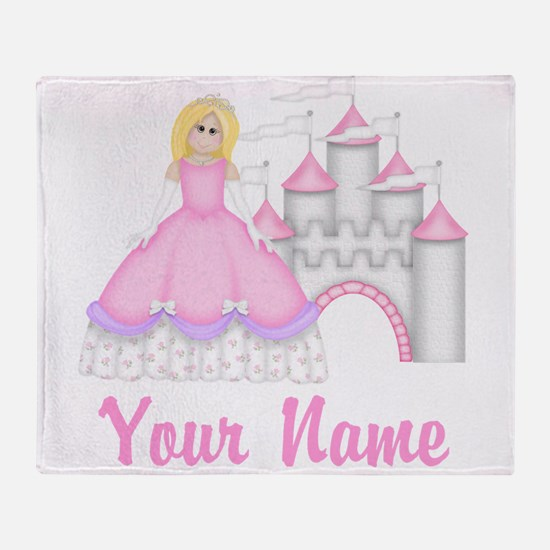 Princess Personalized Throw Blanket