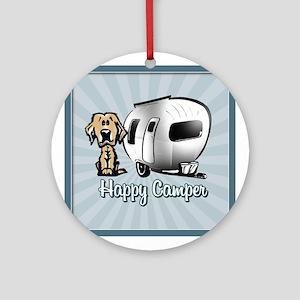 Happy Camper Dog Ornament (Round)