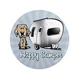 Happy camper dog Single