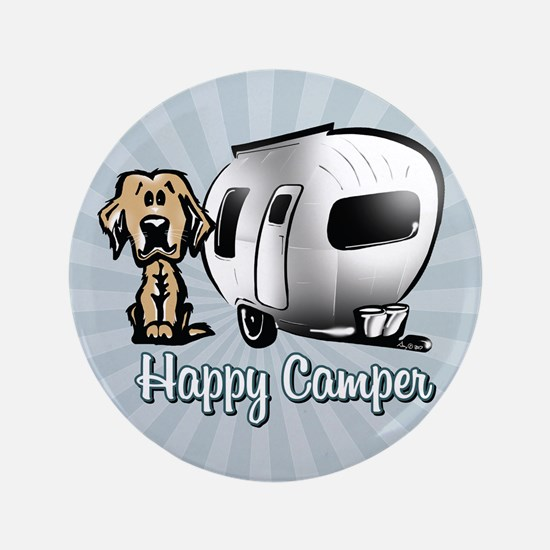 Happy Camper Dog 3.5&Quot; Button