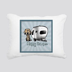 Happy Camper Dog Rectangular Canvas Pillow
