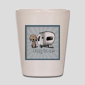 Happy Camper Dog Shot Glass