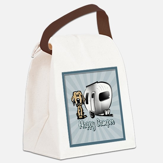 Happy Camper Dog Canvas Lunch Bag