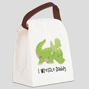 I wrestle daddy Canvas Lunch Bag