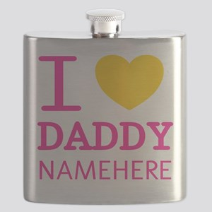 Personalized Name I Heart Daddy Flask