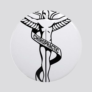Chiropractic Symbol Ornament (Round)