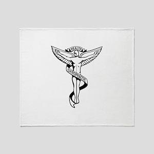 Chiropractic Symbol Throw Blanket