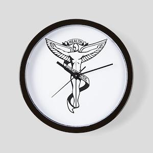 Chiropractic Symbol Wall Clock
