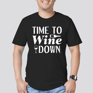 Time To Wine Down Men's Fitted T-Shirt (dark)