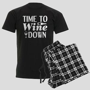 Time To Wine Down Men's Dark Pajamas