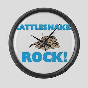 Rattlesnakes rock! Large Wall Clock