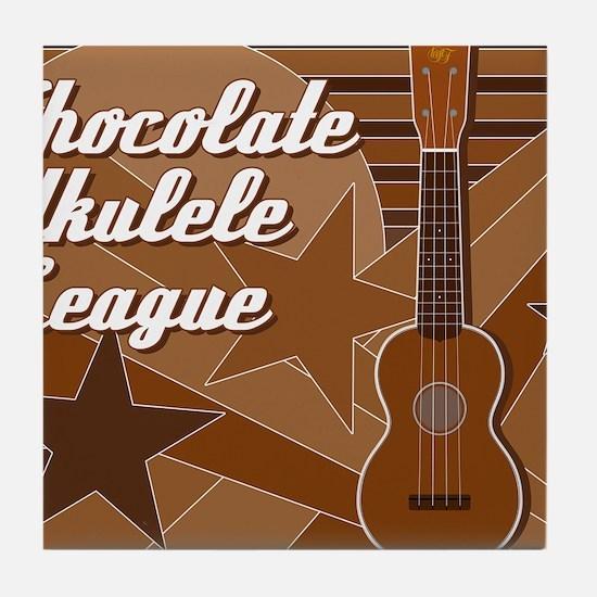 titusfactory_ChocolateUkeLeague02 Tile Coaster