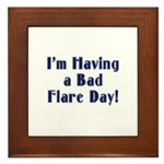 Bad Flare Day Framed Tile