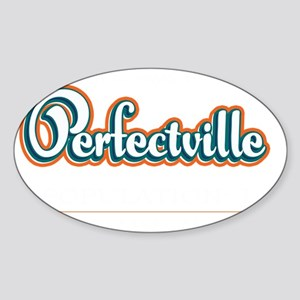 Perfectville_Dark Sticker (Oval)