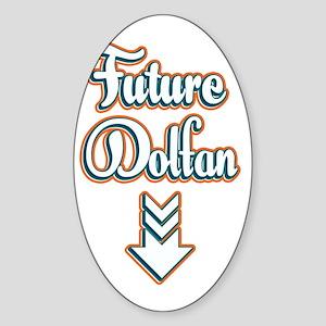 FutureDolfan_Dark Sticker (Oval)