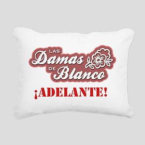 DamasDeBlanco01_Both Rectangular Canvas Pillow