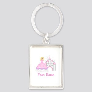 Princess Castle Personalized Keychains