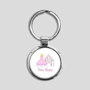Princess Castle Personalized Keychains