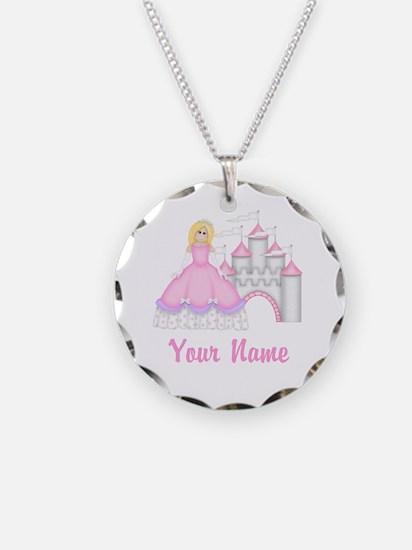 Princess Castle Personalized Necklace