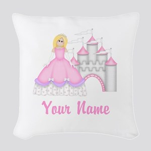 Princess Castle Personalized Woven Throw Pillow