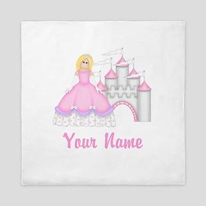 Princess Castle Personalized Queen Duvet
