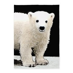 Polar Bear Cub 5'x7'Area Rug