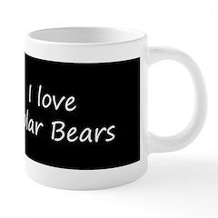 Polar Bear Cub 20 oz Ceramic Mega Mug