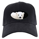 Polar Bear Cub Black Cap with Patch