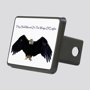 eagle wing spanhugetext Rectangular Hitch Cover