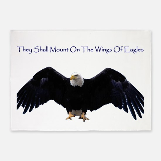 eagle wing spanhugetext 5'x7'Area Rug