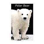 Polar Bear Cub Sticker (Rectangle 10 pk)
