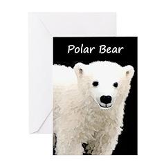 Polar Bear Cub Greeting Card