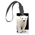 Polar Bear Cub Large Luggage Tag