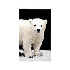 Polar Bear Cub Area Rug