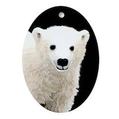 Polar Bear Cub Oval Ornament