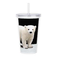 Polar Bear Cub Acrylic Double-wall Tumbler
