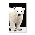Polar Bear Cub 35x21 Wall Decal
