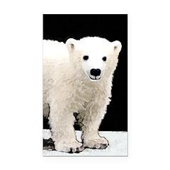 Polar Bear Cub Rectangle Car Magnet