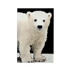 Polar Bear Cub Rectangle Magnet (100 pack)
